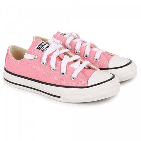 Converse Logo Denim Design Sneakers in Pink - BAMBINIFASHION.COM