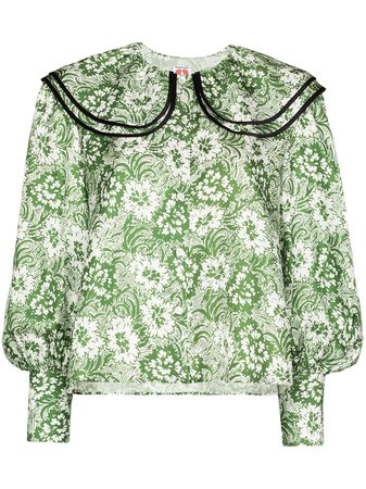 Shrimps Floral Print Silk Blouse - Farfetch