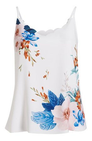 Ted Baker London Ratana Jamboree Floral Scalloped Camisole | Nordstrom