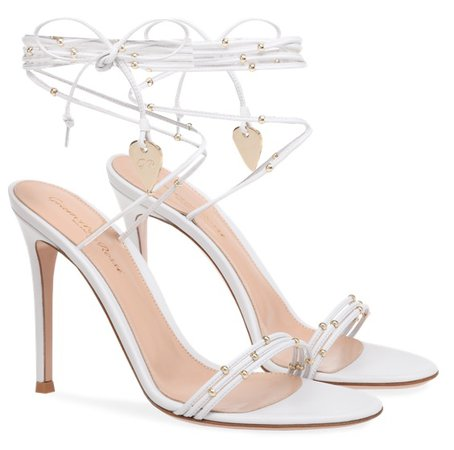 GIANVITO ROSSI White Luxor Heels