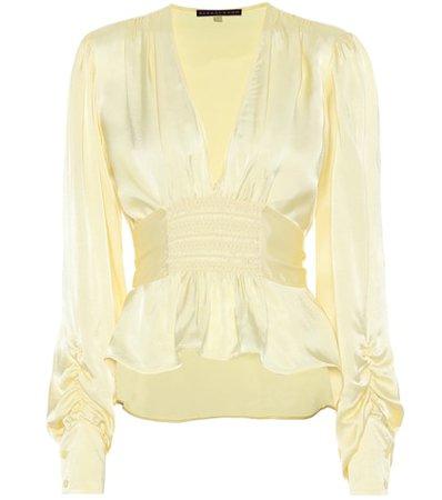 Crêpe satin blouse