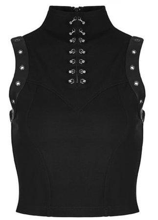 Punk Rave Gothic Disco Top   Attitude Clothing