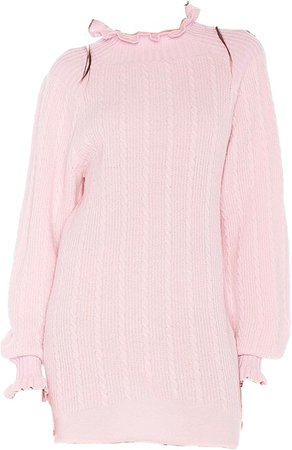 pink sweater dress