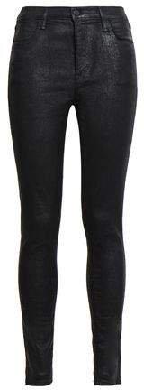 Maria Coated High-rise Skinny Jeans