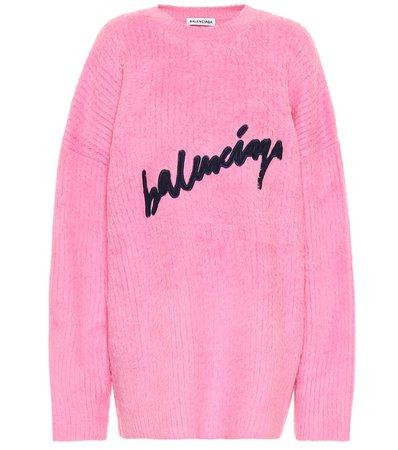 BALENCIAGA Logo cotton-blend sweater