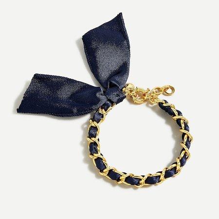 J.Crew: Fabric Chain Bracelet For Women black
