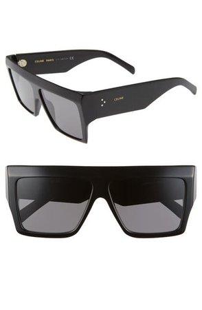 CELINE 60mm Flat Top Sunglasses | Nordstrom