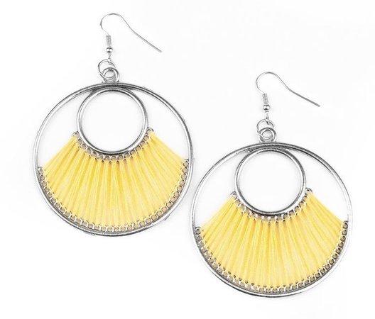 light yellow earrings