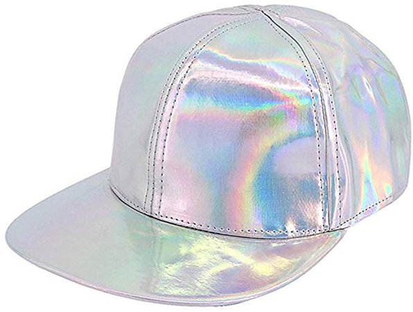 Amazon.com: Orita Baseball Cap Casual Cap New Laser Summer Visor Cap Sun Hat Shiny Holographic with Adjustable Strap Silver: Clothing