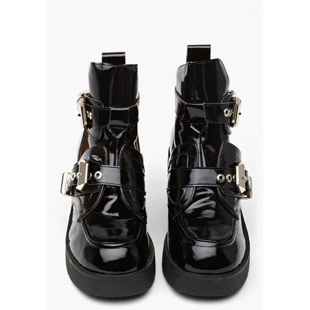 Coltrane Cutout Boot - Black Patent