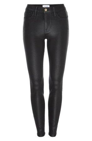 FRAME Le Skinny de Jeanne Coated Ankle Jeans | Nordstrom