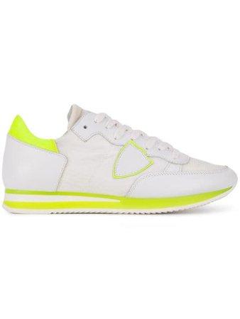 Philippe Model Paris Tropez - Mondial Neon Veau Sneakers TRLDNV White   Farfetch