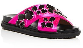 Women's Fussbett Crystal Crisscross Sandals
