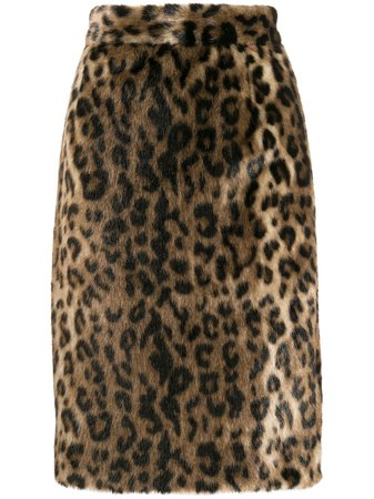 Nº21 furry pencil skirt £440 - Buy Online - Mobile Friendly, Fast Delivery
