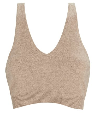 FRAME Cashmere Cropped Tank Top | INTERMIX®