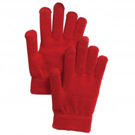 Sport-Tek STA01 Spectator Gloves - True Red | FullSource.com