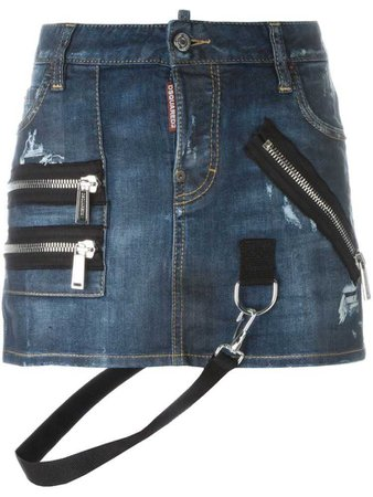 Dsquared2 strap detail mini skirt