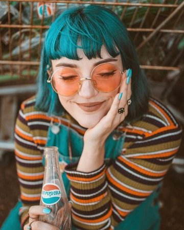 teal blue green hair