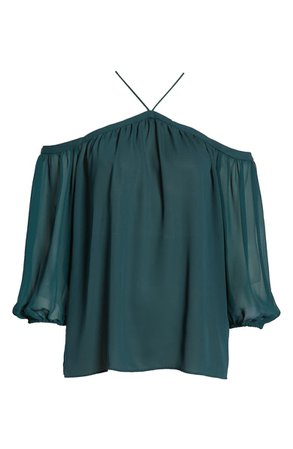 1.STATE Off the Shoulder Sheer Chiffon Blouse | Nordstrom
