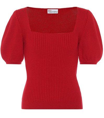 REDValentino - Jersey de lana acanalado | Mytheresa