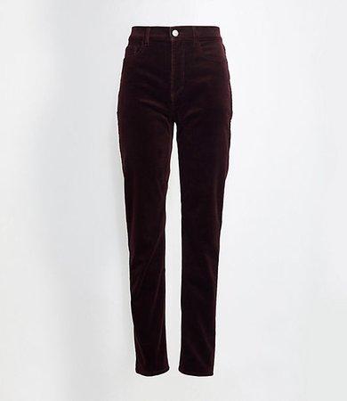 Tall High Waist Straight Leg Corduroy Pants