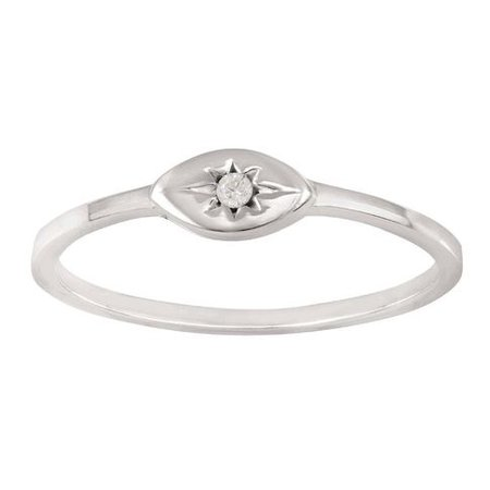 Sterling Silver CZ Star Ring | The Warehouse