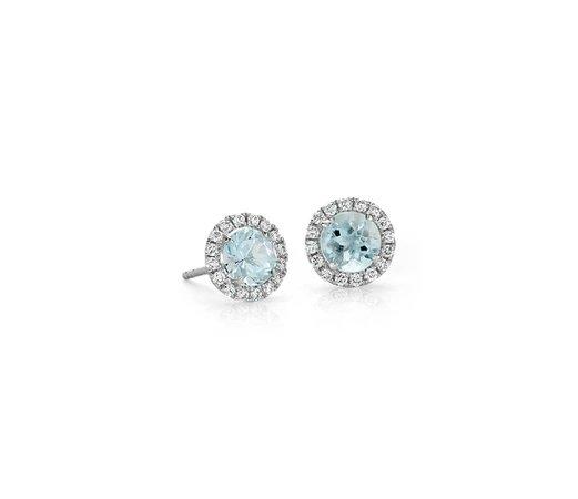 light blue diamond earrings - Google Search