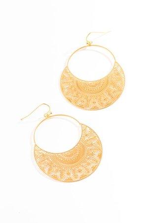 Angelique Circle Drop Earrings | francesca's