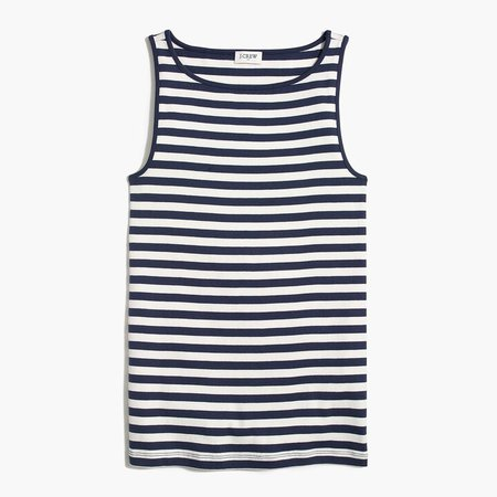 Striped open-neck cami top