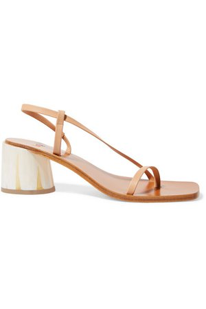 LOQ | Isla leather sandals | NET-A-PORTER.COM