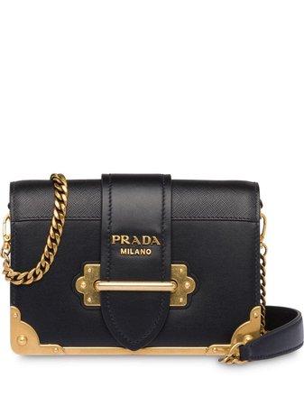 Prada Cahier shoulder bag black 1BH018VWCH2BB0 - Farfetch