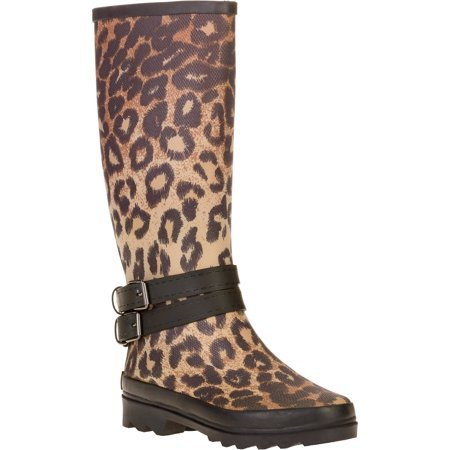 Forever Young - Forever Young Women's Leopard Print Couture Tall Rain Boot - Walmart.com - Walmart.com