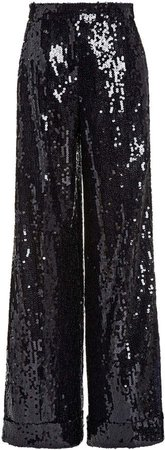 Akris Floretta Sequined Wide-Leg Pants