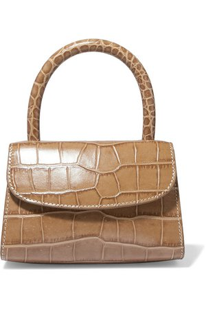 BY FAR | Mini croc-effect leather tote | NET-A-PORTER.COM