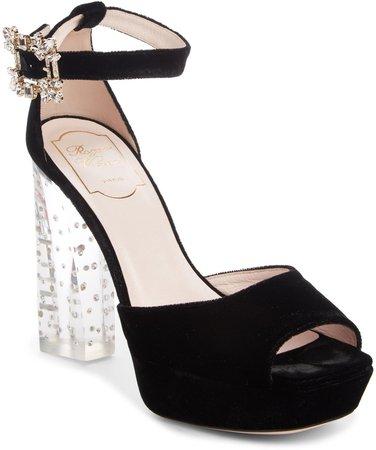 Mini Broche Vivier Platform Sandal