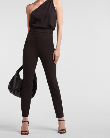 Super High Waisted Twill Skinny Pant