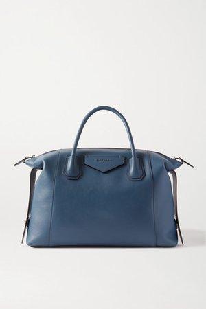 Antigona Soft Medium Leather Tote - Navy
