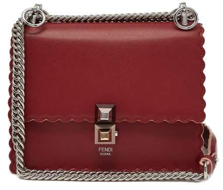 Kan I Small Leather Cross Body Bag - Womens - Red