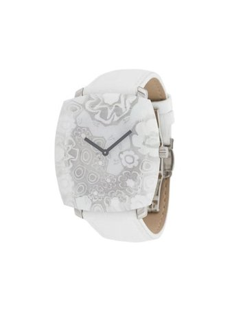 White Yunik Flowers Tonneau watch - Farfetch