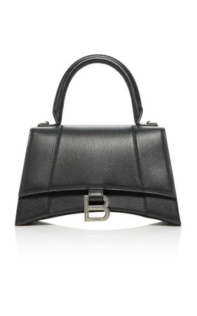 Hourglass Embellished Textured-Leather Top Handle Bag by Balenciaga | Moda Operandi