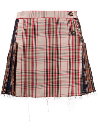 Vivienne Westwood Tartan Pattern Skirt - Farfetch