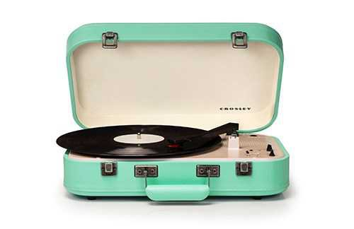 Mint-Green Turntable
