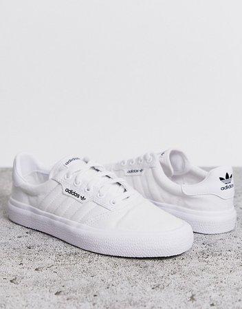 adidas Originals 3MC Vulc sneaker in white | ASOS