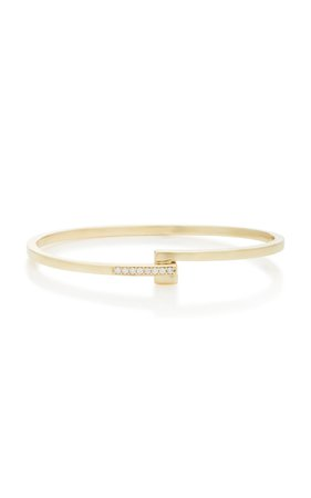 MIANSAI Cubist 14K Gold Diamond Bracelet