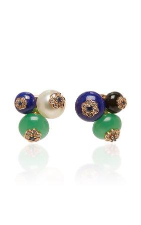 David Morris Forest Berry Earrings