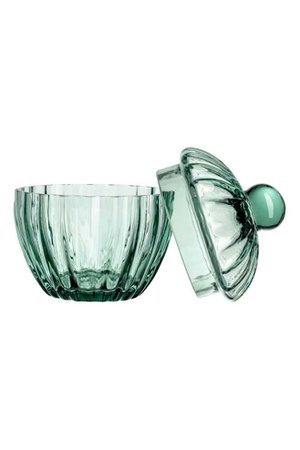 Glass Container - Turquoise - Home All | H&M CA