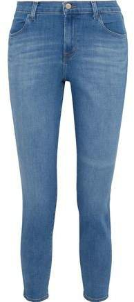Alana Cropped Faded High-rise Skinny Jeans