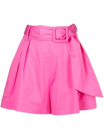 Shop Oscar de la Renta belted A-line shorts with Express Delivery - FARFETCH