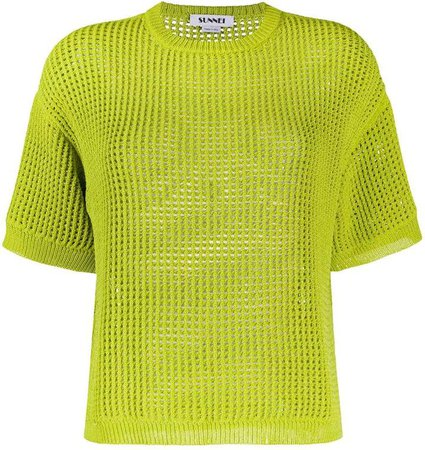 Short-Sleeved Knitted Top