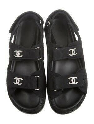 chanel strap sandals
